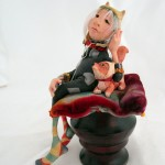 "Kitty and Foxie ... 6"" tall : $495. SOLD"