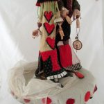Hatter and The Red Queen 22x10x10  2009  $2000.CAD