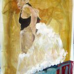 NFS : Madame Tutu 28x22 acrylic on paper  $700.